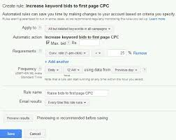 keyword bid adwords automated explained with exle bytefive