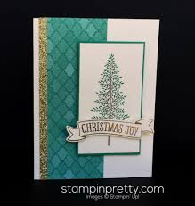 simple evergreen christmas card stampin u0027 pretty