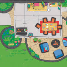 andrew u0027s ideal patio plan showing layout of lounging entertaining
