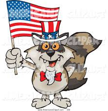americana vector cartoon clip art of a cute and patriotic uncle