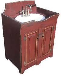 primitive bathroom vanities loaves of bread or other storage