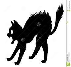 Halloween Black Cat Silhouette Scared Cat Stock Photo Image 4677290