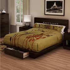 Storage Platform Bed Frame Chocolate by Ameriwood Platform Espresso Twin Bed Frame 5950303com The Home Depot