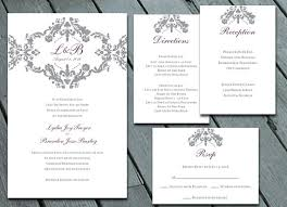 damask wedding invitations damask wedding invitation suite with rsvp info card direction