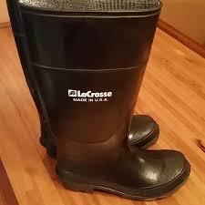 womens rubber boots size 9 81 lacrosse shoes lacrosse black rubber boot s 6