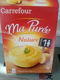 ma cuisine fr ma purée nature carrefour 125 g 4 31 25 g e