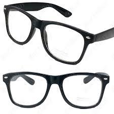 clear lens black frame cat eye glasses designer fashion nerd geek