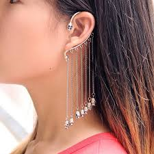 how do you wear ear cuffs different ideas to wear chain ear cuffs trends4us