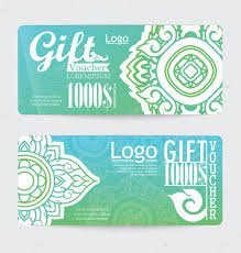 gift voucher with line thai design u2014 stock vector wittaya2499