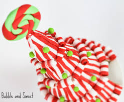 bubble and sweet lollipop and candy christmas tree cake tutorial