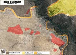 Syria War Map by Latest Battle Update From Deir Ezzor Map