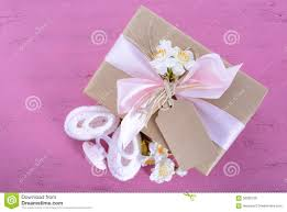 baby shower its a pink gift stock photo image 56580068