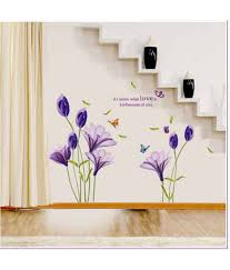 oren empower purple lily flower wall sticker for home decor buy