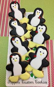 227 best christmas reindeer penguins decorated cookies and cake