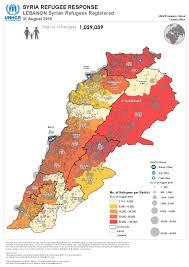 Map Of Lebanon Document Unhcr Registration Lebanon Map Of Registered