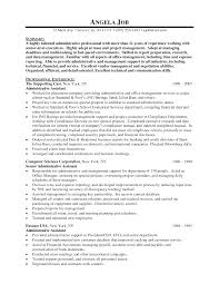 Sample Of Administrative Assistant Resume Senior Administrative Assistant Resume Sample Free Resume