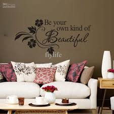 be your own kind of beautiful vinyl wall lettering and flower be your own kind of beautiful vinyl wall lettering and flower stickers quotes and sayings home art decor decal