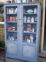 meuble garde manger cuisine garde manger bleu île de ré patiné