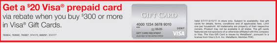 metabank prepaid cards staples purchase 300 in visa gift cards get 20 visa gift card