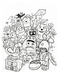 yo gabba gabba coloring pages doodle coloringstar