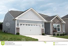 Two Car Garage Plans by Condo With Two Car Garage Royalty Free Stock Photography Image