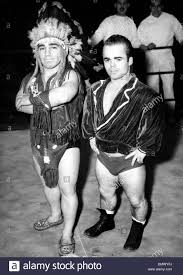 jan 29 1957 paris france little wrestlers beauer and tiny tim