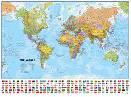 Google Map Of The World by Flat Map Of The World Deboomfotografie