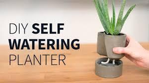diy self watering herb garden inspiring self watering flower pots diy concrete planter how to
