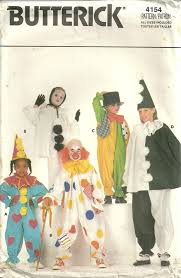 Halloween Costume Patterns Classy Patterns Butterick 4154 Vintage Boys Girls Children Clown