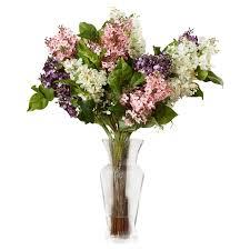 darby home co glenham lilac silk flower arrangement u0026 reviews