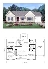 3 bedroom home floor plans cottage style cool house plan id chp 28554 total living area