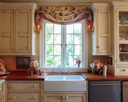 Tuscan Kitchen Curtains Valances by Double Window Treatment Houzz