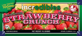 incredibles edibles incredibles 100mg strawberry crunch bar speed marijuana