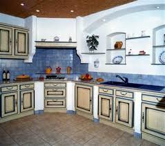 cuisiniste var cuisine batie provençale cerusée crème et rechis bleue et