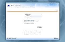bureau a distance personnaliser le portail accès bureau à distance par le web rd web