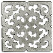 constantine 3x3 inch pewter tile metal tile accent tiles