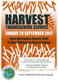 harvest thanksgiving service 24th sept netherlorn churches