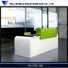 Marble Reception Desk Manmade Stone Reception Counter Artificial Marble Reception Desk