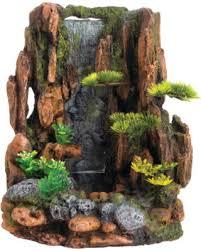 special top fin mountain cliff waterfall aquarium ornament