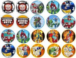 transformers rescue bots 1 edible cake or cupcake topper edible transformers rescue bots edible image cookie or cupcake topppers