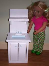 free handmade 18 inch american doll kitchen sink dolls