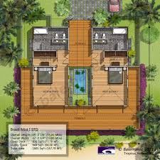 House Floor Plans Design Balemaker Tropical House Floor Plans Modeling Design Bali