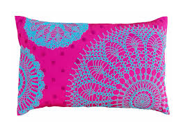 crochet pink with turquoise from the exclusive home decor and