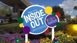 disney pixar inside out emotion garden at epcot flower and garden