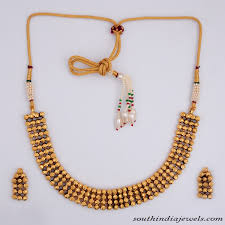 fashion jewellery necklace sets images Artificial antique necklace set with earrings south india jewels jpg