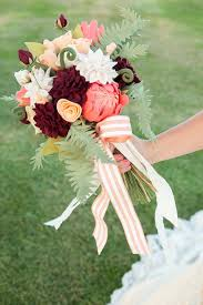 diy bouquet how to make the most gorgeous felt wedding bouquet