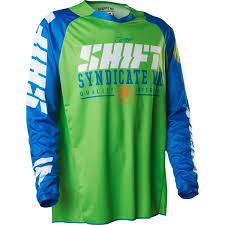 jersey motocross shift mx strike solids motocross jersey blue green clearance