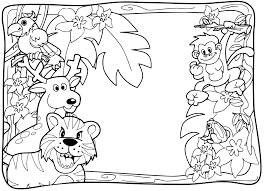 cartoon jungle animals coloring pages get coloring pages