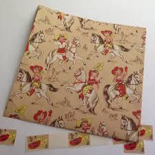 cowboy wrapping paper wrapping paper cowboy western vintage by stonebridgeworks