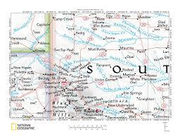 Sd Map Moreau River Belle Fourche River Drainage Divide Area Landform